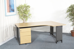 additional images for Samas Roneo light oak radial desk was £170 now