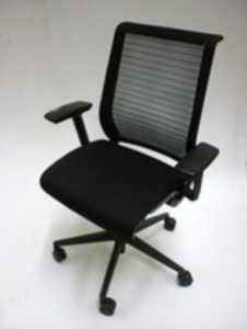 additional images for Steelcase Think black fabric mesh back task chairs (CE)