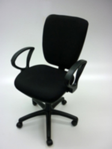 additional images for Square back black 2 lever operator chairs