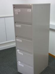 additional images for Bisley grey 5 drawer filing cabinets