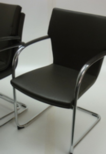 additional images for Brunner dark brown leather stacking chairs  (CE)